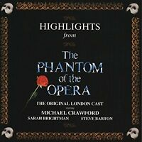 Phantom of the Opera (1987) Highlights:Sarah Brightman, Michael Crawford.. [CD]