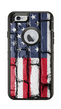 Skin Decal Wrap for Iphone 6 6S Otterbox Defender Case American Flag Brick Slab
