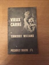 Vieux Carre By Tennessee Williams PICCADILLY THEATRE PROGRAMME - 1978