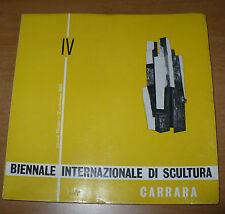 IV BIENNALE INTERNAZIONALE DI SCULTURA CARRARA 1965 ENZO MARI POMODORO H.MOORE
