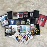Lot of 11 Atari 2600 Video Game Cartridges & Manuals Donkey Kong Pac Man GUC