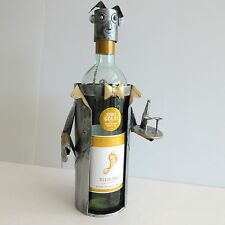 Novelty Metal Wine Bottle Caddy Holder Waiter Sommelier Bar Accessory Handmade