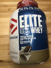 Dymatize Nutrition Elite 100% Whey Protein 5 Lbs cookies & cream new exp 10/21