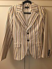 EUC Alvin Valley White Blue Yellow Blazer Jacket Super Cute 40  6