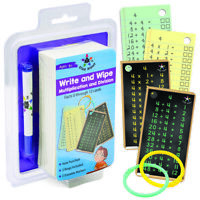Multiplication & Division Flashcards: Early Learning Dry Erase Cards