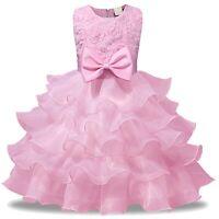 Vestito Damigella Cerimonia Abito Bambina Girl Party Bridesmaid Dress CDR086 F