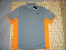 Mens Xlarge Gray/Orange Nike Golf Trilogy Verde River Polo Shirt - Nwt