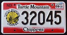 "NORTH DAKOTA "" TURTLE MOUNTAIN CHIPPEWA NATION TRIBE Indian Native License Plate"
