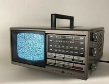 Vintage Old School 1980s General Electric Portable Tv Television Retro Tested