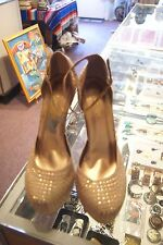 Liliana gold synthetic very high heels size 9 M
