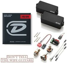 EMG P BASS BLACK ACTIVE PRECISION REPLACEMENT PICKUP POTS & WIRING ( STRINGS )