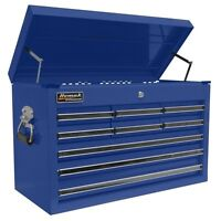 Homak 27 Professional Black 9 Drawer Top Chest - Blue BL02092601 Tool Box NEW
