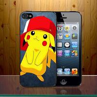 Gangster Pokemon Pikachu Chubby Rodent Cap Hat Rap  Hard Phone Case Cover Z389
