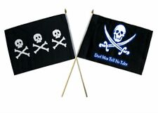"12x18 12""x18"" Wholesale Combo Pirate Chris Condent & Dead Men Tale Stick Flag"