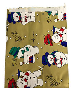 CHRISTMAS Patterned Paper Bags - Gifts - Market - TRADITIONAL VINTAGE DESIGNS