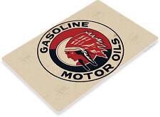 TIN SIGN Indian Gas Retro Gasoline Sign Oil Auto Shop Garage Cave A096