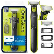 PHILIPS una lama ELETTRICO TRIMMER Styler RASOIO PETTINI 3x Wet & Dry QP2520/25