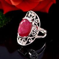 formschöner indianruby edelstein massiv silberner ring handgefertigt geschenk de
