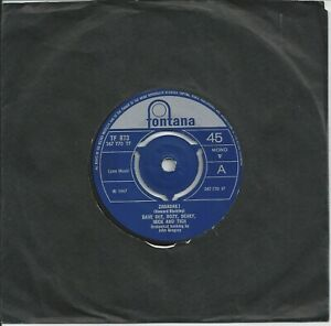 "Dave Dee, Dozy, Beaky, Mick And Tich - Zabadak! 7"" Vinyl Single 1967"