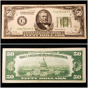 1928-A United States $50 Average Circulated Federal Reserve Note - No Reserve