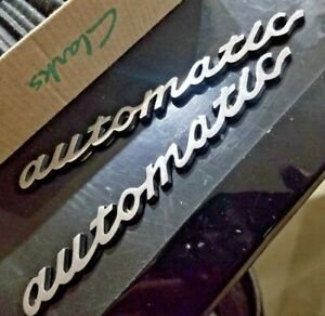 Alfa Romeo Spider and others  AUTOMATIC Script Chrome Emblem badge logo NEW!!