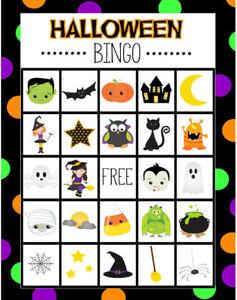 Halloween Bingo 9 Cards Game: 2021 Safe Bingo PDF High Quality Files