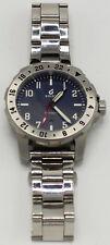 BOLDR Explorer II GMT 42mm Blue Dial - Date - Stainless Steel Bracelet Watch