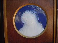 Tableau Christ porcelaine dure Limoges France signée A Barriere
