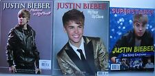 Lot of 3 JUSTIN BIEBER Specials MY YEAR UP CLOSE  WELCOME 2 MY WORLD  SUPERSTARS