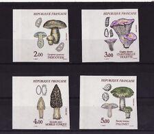 timbre France non dentelée  série 4 champignons 1987  num: 2488/2491  bdfg  **