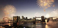 "LARGE CANVAS PICTURE BROOKLYN BRIDGE NEW YORK 42""x20"""