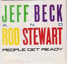 """JEFF BECK & ROD STEWART - People Get Ready - Deleted 1985 Australian 7"""" single"""