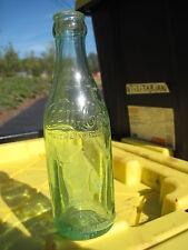 Apple Green Shoulder Script Coca Cola Coke Bottle NEW IBERIA La  ROOT GLASS 1912