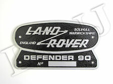 LAND ROVER SOLIHULL WARWICKSHIRE ENGLAND DEFENDER 90 ORIGINAL BADGE NAMEPLATE