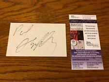 Paul Shaffer Signed Index Card JSA Certified