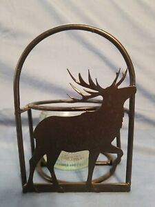 Deer Metal Candle Holder With Glass Jar