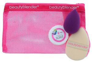 Beauty Blender Make Up Bag, Solid Cleanser, Tear Drop Sponge,Microfibre Blender