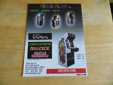 Team Play Retrocade Centipede Millipede Missle Command Arcade Game Flyer