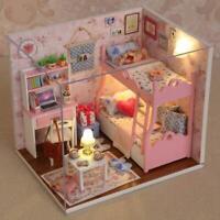 Handmade Doll House Furniture Kit DIY Mini Dollhouse Wooden Toy for Kids