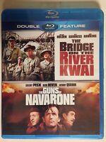 The Bridge on the River Kwai/ Guns of Navarone - Blu ray, 2 Disc (NEW)