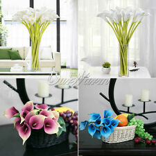 10×Artificial Silk Flowers Calla Lily Real Touch Fake Flower Home Bouquet Decor