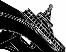 Sticker Paris Tour Eiffel 112 - 72x57 cm