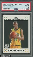 2007 Topps Rookie Card #2 Kevin Durant Supersonics RC PSA 9 MINT