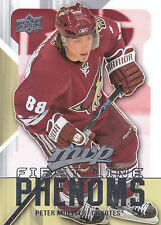 08-09 UPPER DECK MVP FIRST LINE PHENOMS #FL10 PETER MUELLER COYOTES *8222