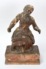 18th Century German Carved Painted Wooden Sculpture of Saint Jerome