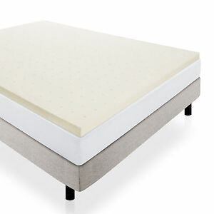 LUCID 2 INCH SOLID FOAM MATTRESS TOPPER VARIOUS SIZES 3 YEAR WARRANTY New in box