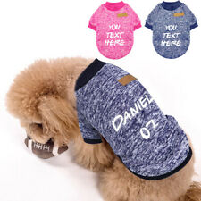 Personalized Dog Classic Knitwear Sweater Fleece Coat Soft Thickening Warm Pup