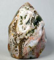 Natural Amazing Ocean Jasper Agate Geode flame Crystal Freeform Madagascar