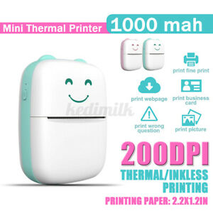 Portable Mini Printer Thermal Photo Wireless USB bluetooth Pocket Receipt