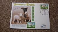 2005 AUSTRALIAN ALPHA STAMP ISSUE FDC, DOWN ON THE FARM, LUCY THE LAMB